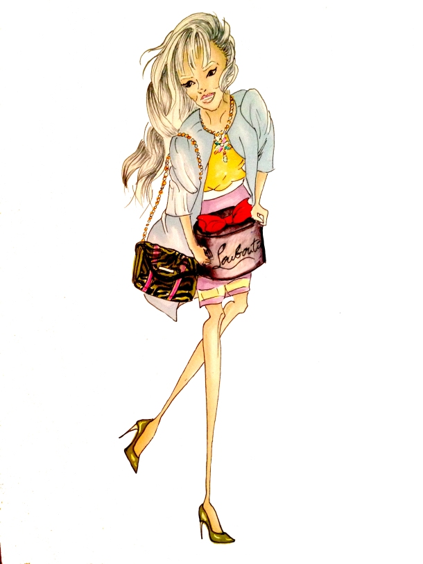 fashion-illustration-by-jamie-sofia-sparklefromwords-The-Louboutin-Girl-1